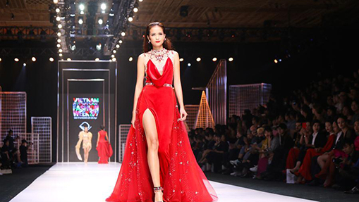Models present creations at Vietnam Int'l Fashion Week
