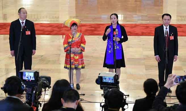 Delegates to 19th CPC National Congress receive interview