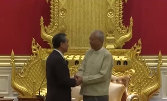 Chinese FM meets Myanmar's top leaders in Nay Pyi Taw