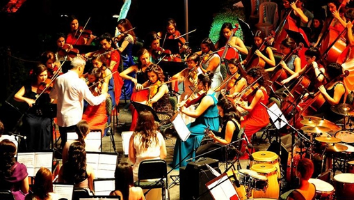 Syrians hold concert in Qasr al-Azem palace in Damascus