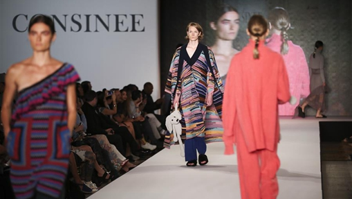 "Creations made with Consinee yarns presented during ""Into the Lines"" runway show in New York"