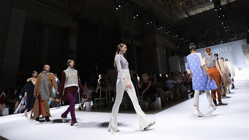 Yarn products of Consinee Group staged at runway show in New York