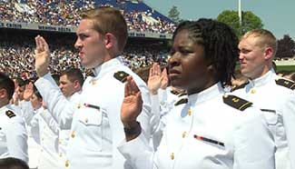 A look into USNA graduation ceremony