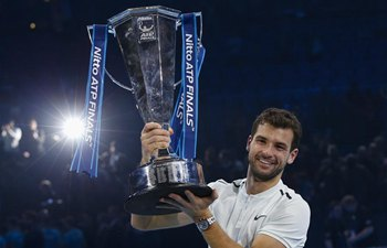 Dimitrov beats Goffin to win ATP Finals champion