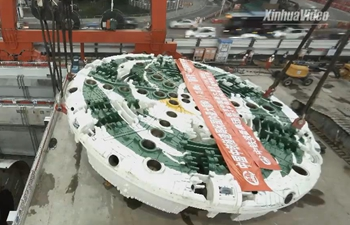 China's extra-large tunneling machine ready for work in Shenzhen